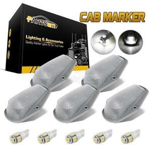 5pc Cab Marker Clearance Light 15442 Clear 5050 White T10 Led For Ford F150 250
