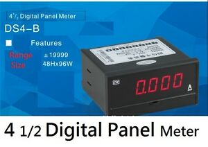 Ds4 b Digital 4 1 2 Digit Ac 20a Panel Amp High Accuracy Current Meter