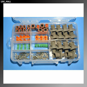 136 Pcs Deutsch Dt Genuine 2 4 pin Flange Connector Kit 14awg Solid Contact
