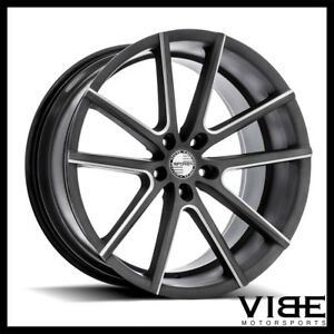 22 Sporza V5 Graphite Concave Wheels Rims Fits Dodge Charger Rt Se Srt8