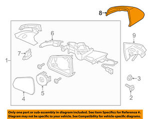Ford Oem Mustang Door Side Rear View Mirror cover Cap Trim Right Fr3z17d742aaptm