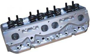 Afr Sbc 235cc Competition Cnc Spread Port Cylinder Heads Ti Retainers 1136 Ti