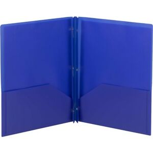 Smead Poly Two pocket Folders With Fasteners 87726