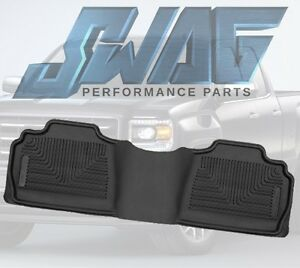 Husky X act Contour Back Seat Floor Mat For 07 14 Gmc Chevrolet Applications