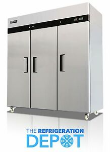 Migali C 3r Three door Commercial Reach in Refrigerator 72 Cu Ft Free Shipping