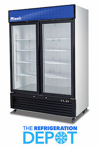 Migali C 49rm Two door Hinged Glass Refrigerator 49 Cu Ft Free Shipping