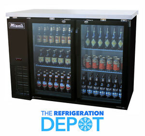 Migali C bb48g Glass Door Back Bar Refrigerator Free Shipping