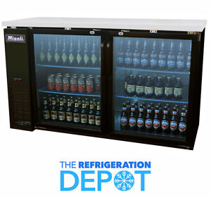 Migali C bb60g Glass Door Back Bar Refrigerator Free Shipping