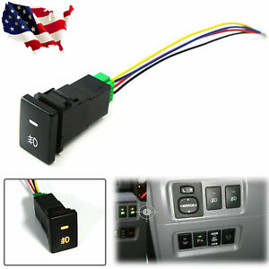 Factory Style 4 Pole 12v Push Button Switch W Led Background Indicator Lights