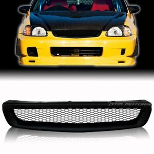 For 96 98 Honda Civic Dx Cx Ex Gx Hx Lx Black Jdm Mesh Style Abs Front Grille