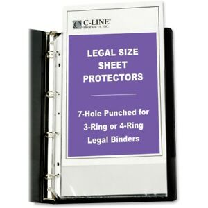C line Top Loading Legal Sized Sheet Protector 62047