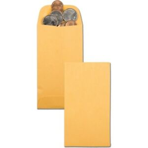 Quality Park Kraft Coin small Parts Envelope 50462