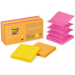 Post it Super Sticky Pop up Notes 3 In X 3 In Rio De Janeiro Color Collection
