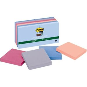 Post it Super Sticky Recycled Notes 3 In X 3 In Bali Color Collection