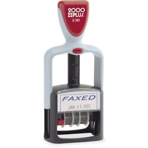 Consolidated Stamp 2 color Self inking Word Dater 011032