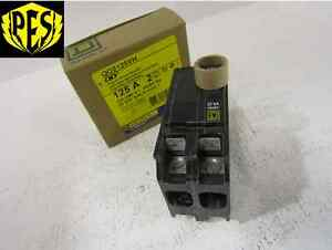 New Square D Qo2125vh 2 Pole 125 Amp 240 Volt 22k Circuit Breaker Nib