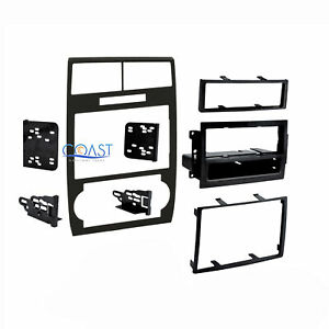 Car Radio Stereo Double Din Black Dash Kit For 2005 2007 Dodge Magnum Charger