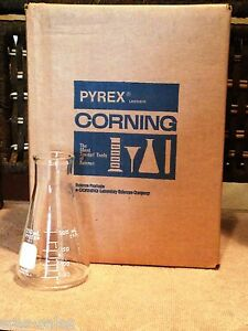 Pyrex Corning 250ml Erlenmeyer Flask 5100 250 One Case With 12 Flask