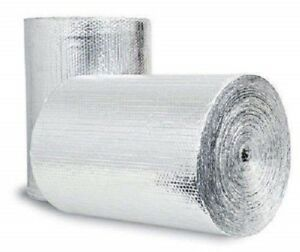 Supershield 48 X 10 Reflective Silver Foam Core Pipe Duct Wrap Insulation