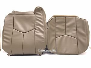 03 06silverado avalanche sierra Leather driver Bottom backrest neutral tan 522