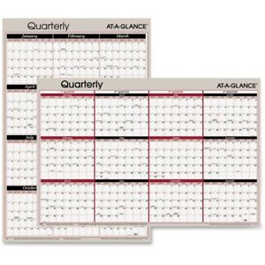 At a glance Erasable reversible Yearly Wall Planner A123