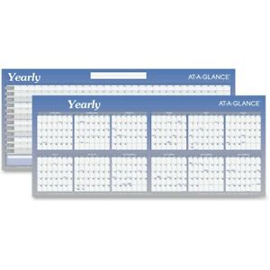 At a glance Large Erasable reversible Horizontal Yearly Wall Planner A177