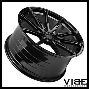 19 20 Vertini Rf1 1 Gloss Black Concave Wheels Rims Fits Chevrolet Corvette C7