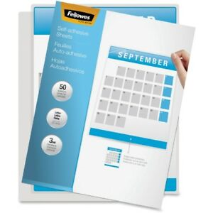 Fellowes Self Adhesive Laminating Sheets Letter 3mil 50 Pack 5221502