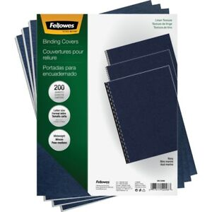 Fellowes Linen Unpunched Presentation Covers 52098