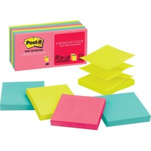 Post it Pop up Notes 3 In X 3 In Cape Town Color Collection R330 12an
