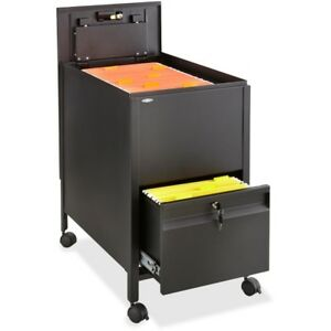 Safco Rollaway Mobile File Cart 5364bl