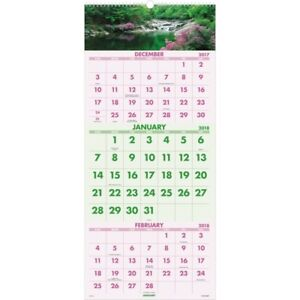 At a glance Scenic Design 3 month Wall Calendar Dmw50328