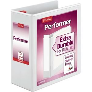 Cardinal Xtravalue Clearvue Locking D ring Binders 4 Binder Capacity Letter