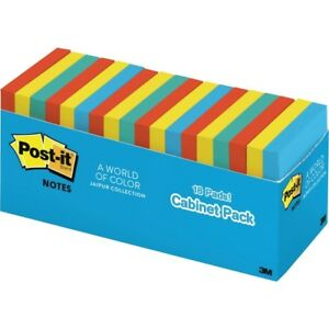 Post it Pop up Notes Cabinet Pack 3 In X 3 In Jaipur Color Collection