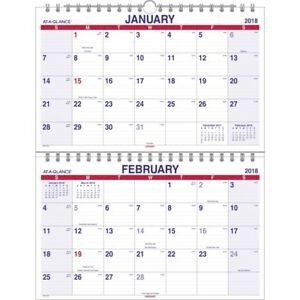 At a glance Move a page 3 month Wall Calendar Pmlf928