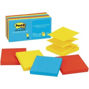 Post it Pop up Notes 3 In X 3 In Jaipur Color Collection R330 12au