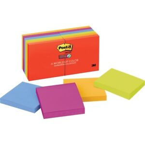 Post it Super Sticky Notes 3 In X 3 In Marrakesh Color Collection 65412ssan