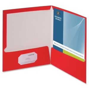Business Source 2 pocket Report Covers With Bus Card Holder 44426