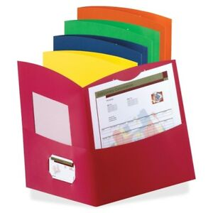 Oxford Contour Two Pocket Folders Letter 8 1 2 X 11 25 Box Assorted