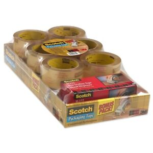 Scotch reg Commercial Grade Shipping Packaging Tape 1 88 X 54 60 Yds
