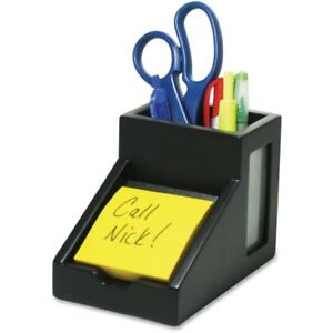 Victor 9505 5 Midnight Black Pencil Cup With Note Holder