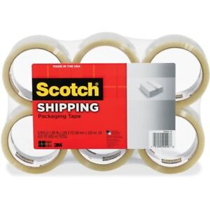 Scotch reg Shipping Packaging Tape 6 Pack 1 88 X 109 Yds 3350l6