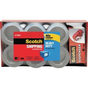 Scotch reg Heavy Duty Shipping Packaging Tape 1 88 X 54 60 Yds 385012dp3
