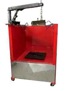 Hd Heated Parts Washer Spray Wash Booth With Filter 500 Lbs Turntable