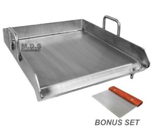 Stainless Steel Flat Top Comal Plancha 18 x16 Inch Bbq Griddle Outdoors Tacos
