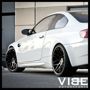 19 Vertini Magic Black Concave Staggered Wheels Rims Fits Bmw E92 E93 M3 Coupe