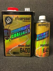 Performance High Gloss Urethane Clearcoat 4 1 Mix Gallon Quart Activator 6400