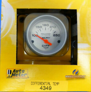 Auto Meter 4349 Ultra Lite Pro Comp Differential Temp Gauge Electric 100 250 F