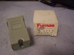 New Furnas 69wa6 Pressure Switch 240 Vac 2 Hp 3 Phase 80 On 100 Off Psi