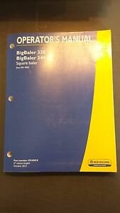New Holland B330 B340 Big Baler Operator s Manual 2013